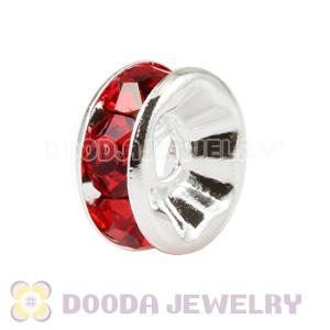 8mm Alloy Red Crystal Spacer Beads For Basketball Wives Earrings