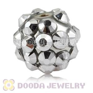 10mm Silver Basketball Wives Resin Earring Beads Wholesale