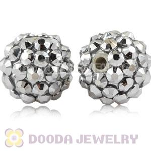 12mm Silver Basketball Wives Resin Earring Beads Wholesale