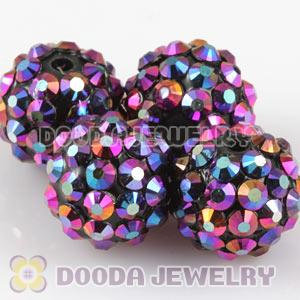 12mm Basketball Wives Resin Rhinestone Ball Beads Wholesale