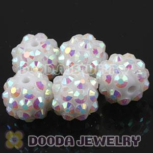 10mm Basketball Wives White Resin Earring Beads Wholesale
