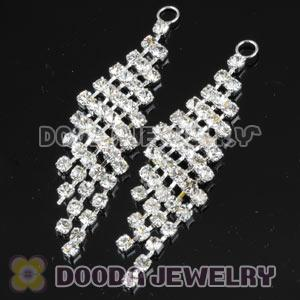 White Crystal Bling For Basketball Wives Earrings Accesories
