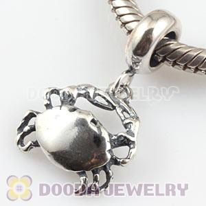 925 Sterling Silver Crab Dangle Charms Wholesale
