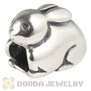 925 Sterling Silver European Easter Bunny Charms Beads Wholesale