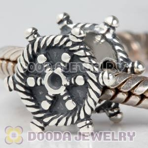 Antique 925 Sterling Silver Ship Steering Wheel Charms Beads Wholesale