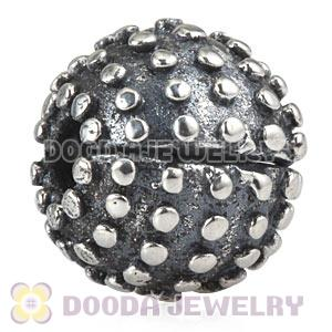 Oxidized Sterling Silver European Studded Clip Beads Wholesale