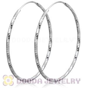 Dia 45mm Sterling Silver Hoop Earrings European Beads Compatible