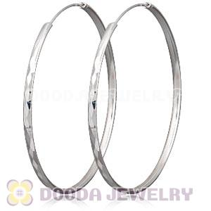 Dia 65mm Sterling Silver Hoop Earrings European Beads Compatible