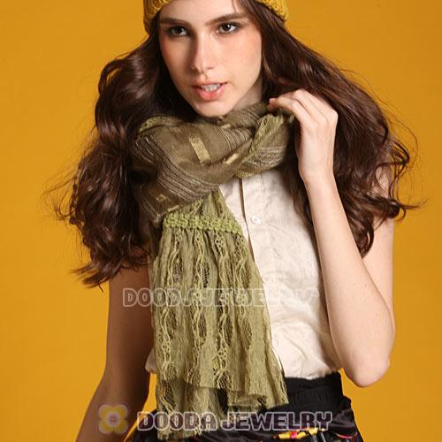 Fashion Eurppean Rural Pastoral Pashmina Scarves Lace Tassels Scarf Wholesale