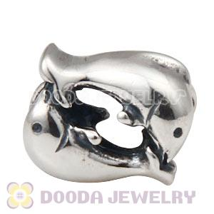 S925 Sterling Silver Dolphin Charm Beads Wholesale