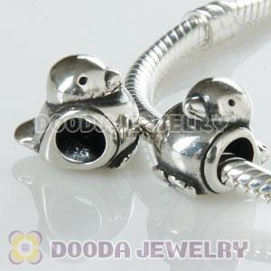 S925 Sterling Silver Happy bird Charm Jewelry Beads