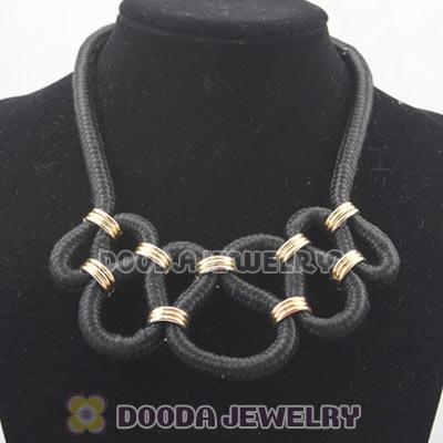 Handmade Weave Fluorescence Black Cotton Rope Fashion Necklace