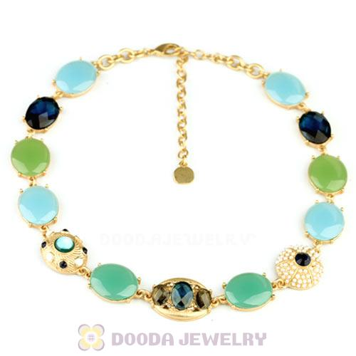 Luxury brand Tranquil Blues Stone Callar Necklace