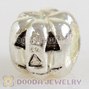 Wholesale silver plated Thanksgiving pumpkin charms beads