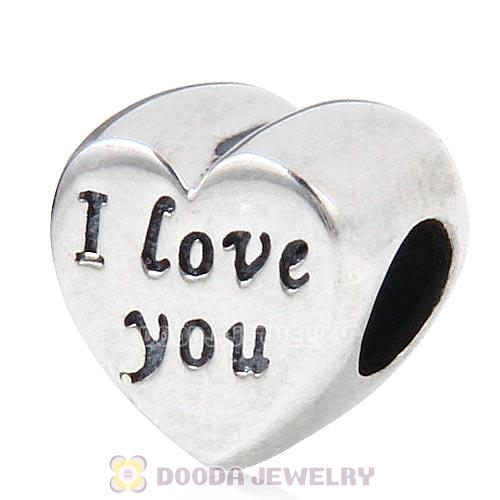 Antique Sterling Silver Words of I love you Charm Beads European Style
