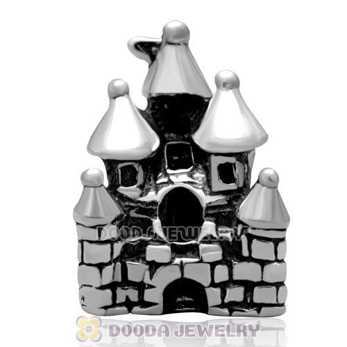 Sterling Silver Castle Charm Beads with Screw Thread for European Charm Bracelets