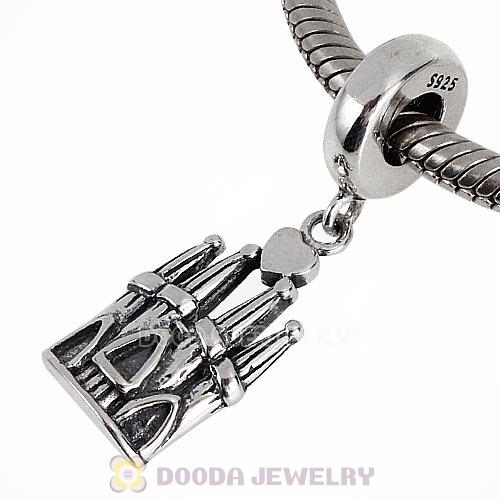 Sterling Silver Dangle Barcelona Castle Charm Beads