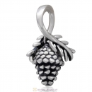 Antique Sterling Silver Pine Cone Dangle Charm Bead for Christmas