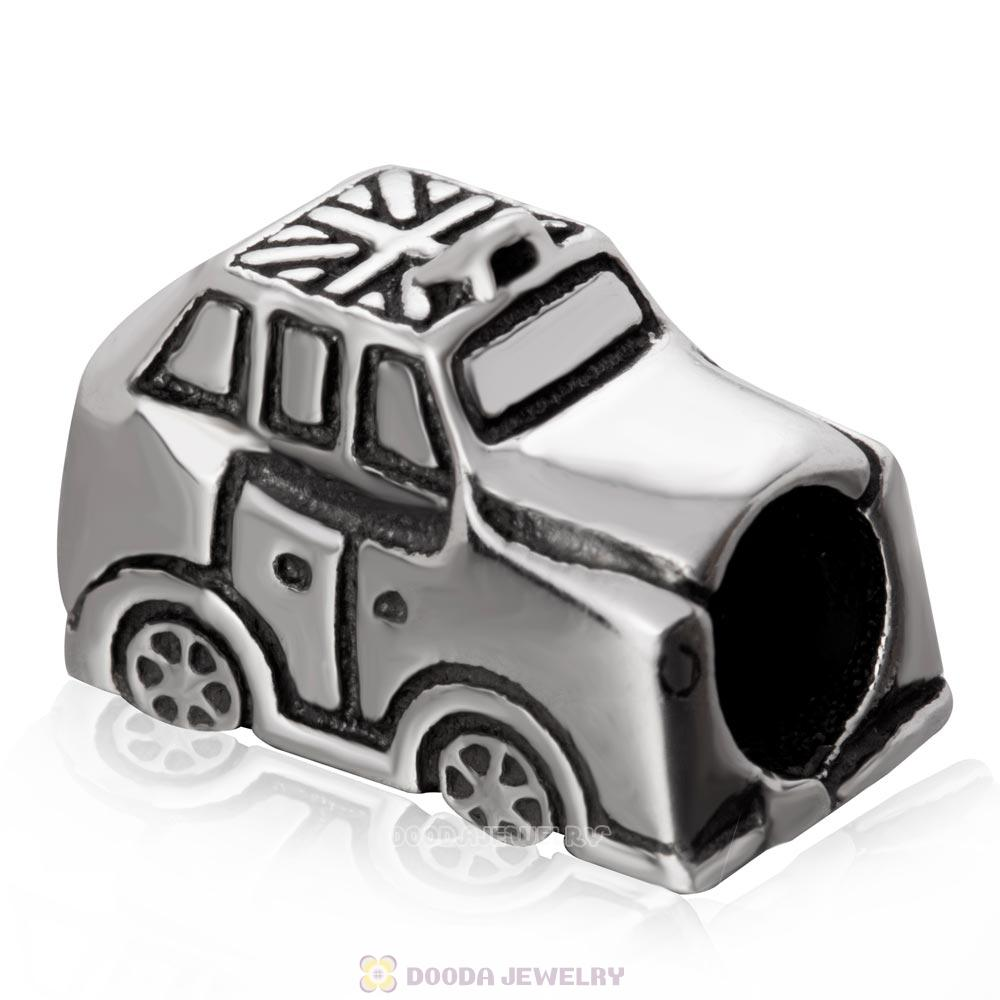 London Taxi Bead 925 Sterling Silver Charm