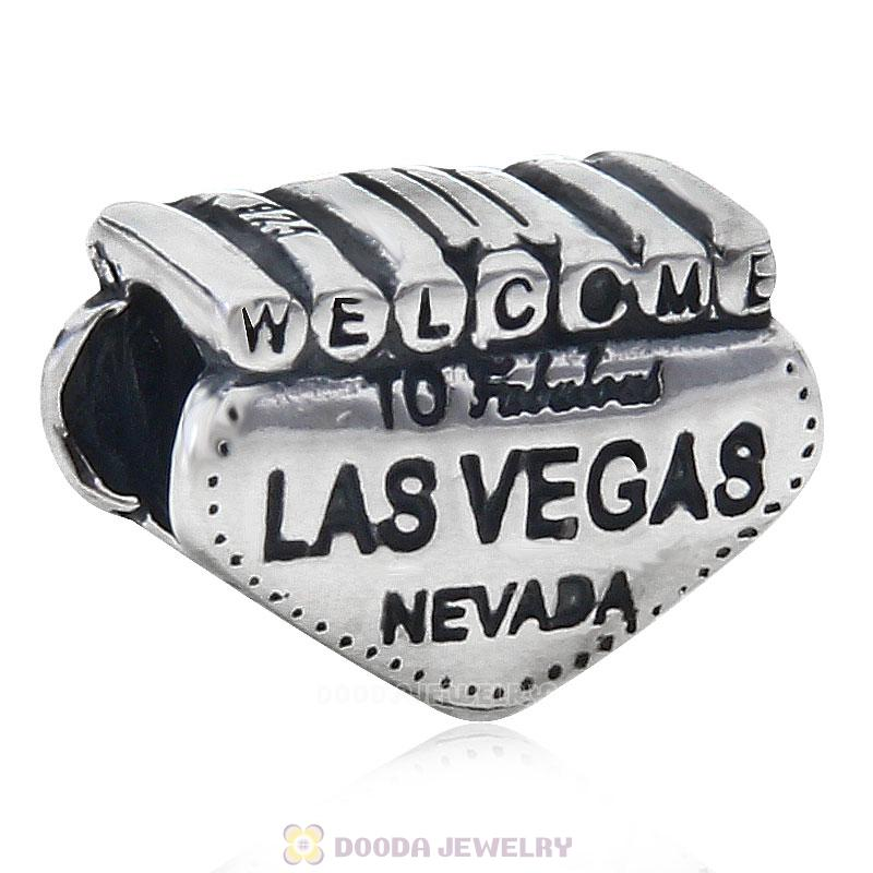 925 Sterling Silver Welcome to Las Vegas Nevada Bead Travel Charm