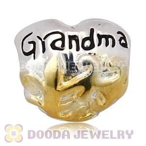 Gold Plated and Charm Jewelry 925 Silver Grandma Beads