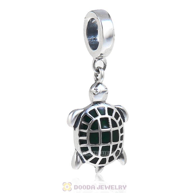 Sea Turtle Charm 925 Sterling Silver