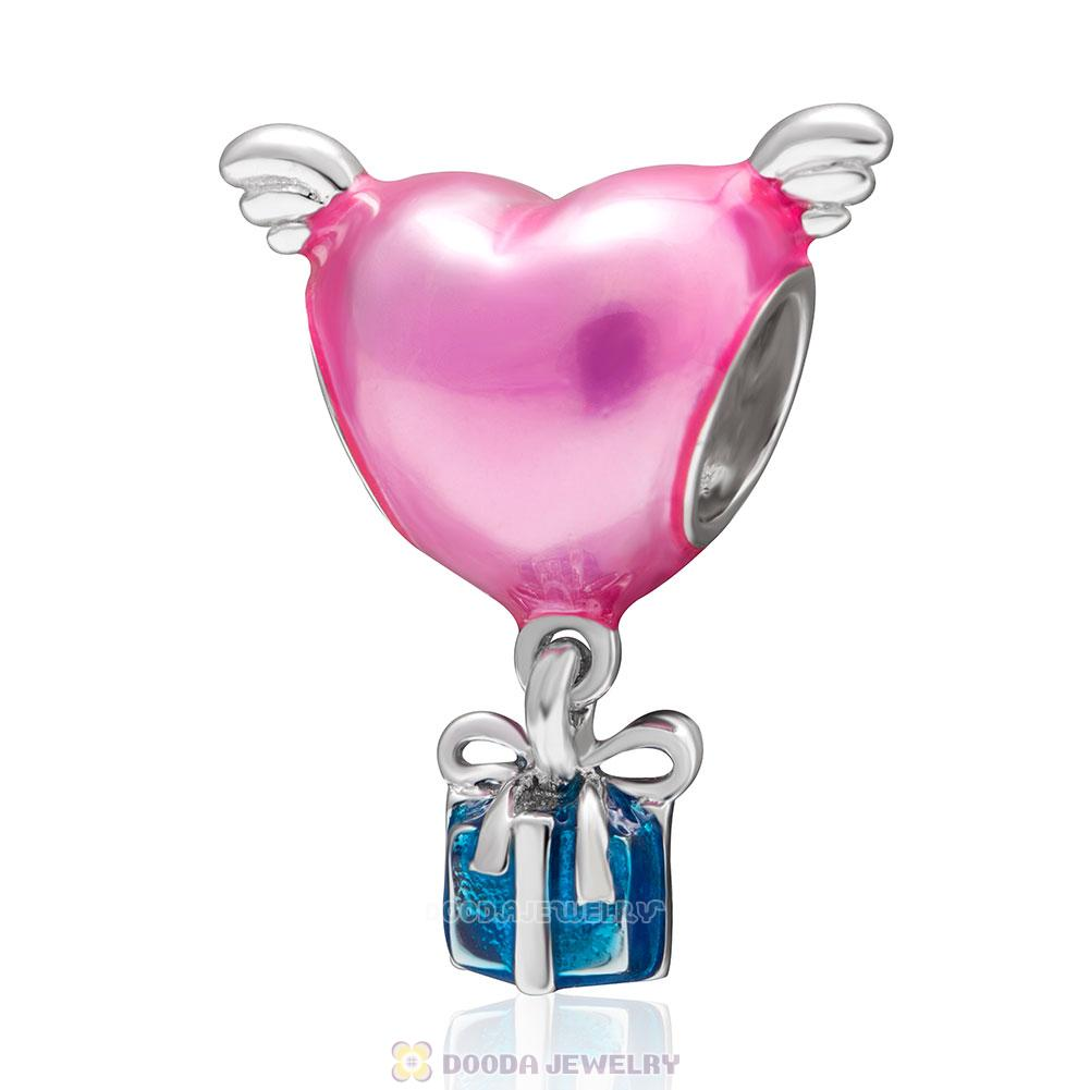 Heart with Wings Enamel Charms