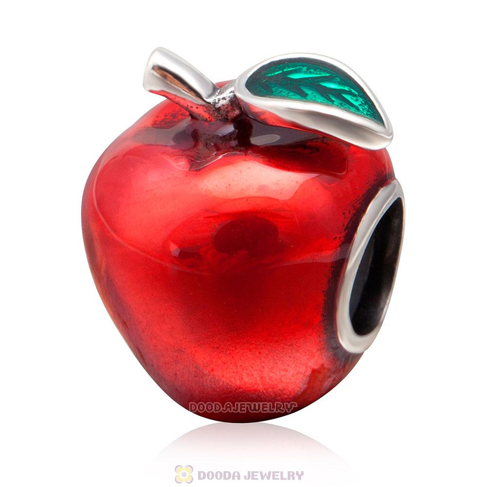 Red Apple Charm Bead