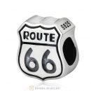 Route 66 Sign Charm 925 Sterling Silver