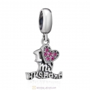I Love my Husband Charm 925 Sterling Silver with Rose Crystal