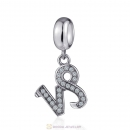 Cubic Zirconia Capricornus Dangle Charm