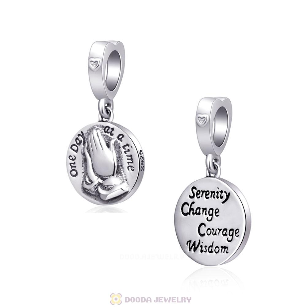Serenity Praying Hands Sterling Silver Charms