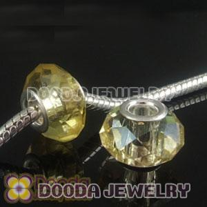 4.5mm alloy hole Charm Jewelry crystal glass beads