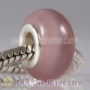 Wholesale Brown Cat Eye Lampwork Glass Beads with alloy double core fit European Largehole Jewelry Bracelet