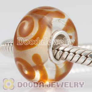 2011 new lampwork glass beads 925 sterling silver core European compatible