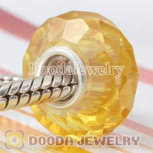 Fashion Jewelry style faceted zircon stone beads in 925 solid silver single core