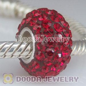 Jewelry silver beads with 90 crystal rhinestones-Austrian crystal Jewelry beads